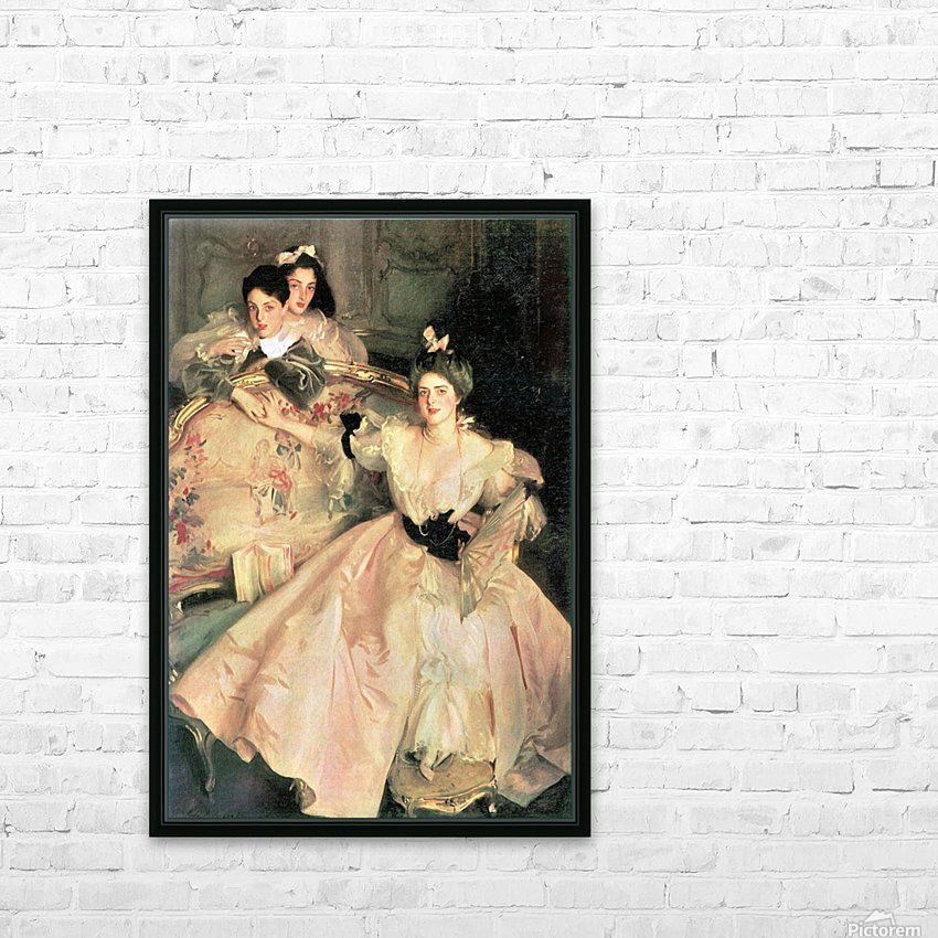 Mrs. Carl Meyer and Her Children by John Singer Sargent HD Sublimation Metal print with Decorating Float Frame (BOX)