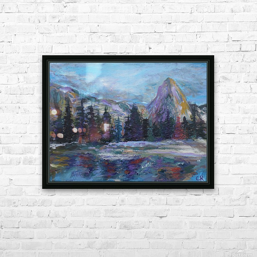 Lone Eagle Peak reflected in Mirror Lake Indian Peaks Wilderness HD Sublimation Metal print with Decorating Float Frame (BOX)