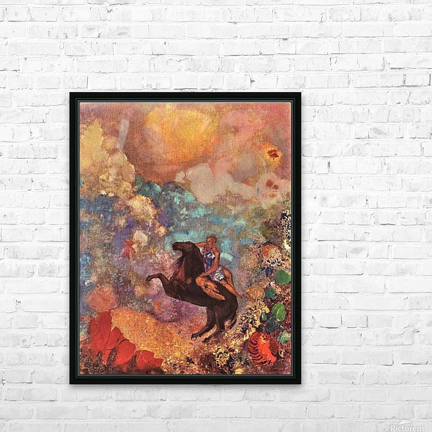 The MUSE on Pegasu by Odilon Redon HD Sublimation Metal print with Decorating Float Frame (BOX)