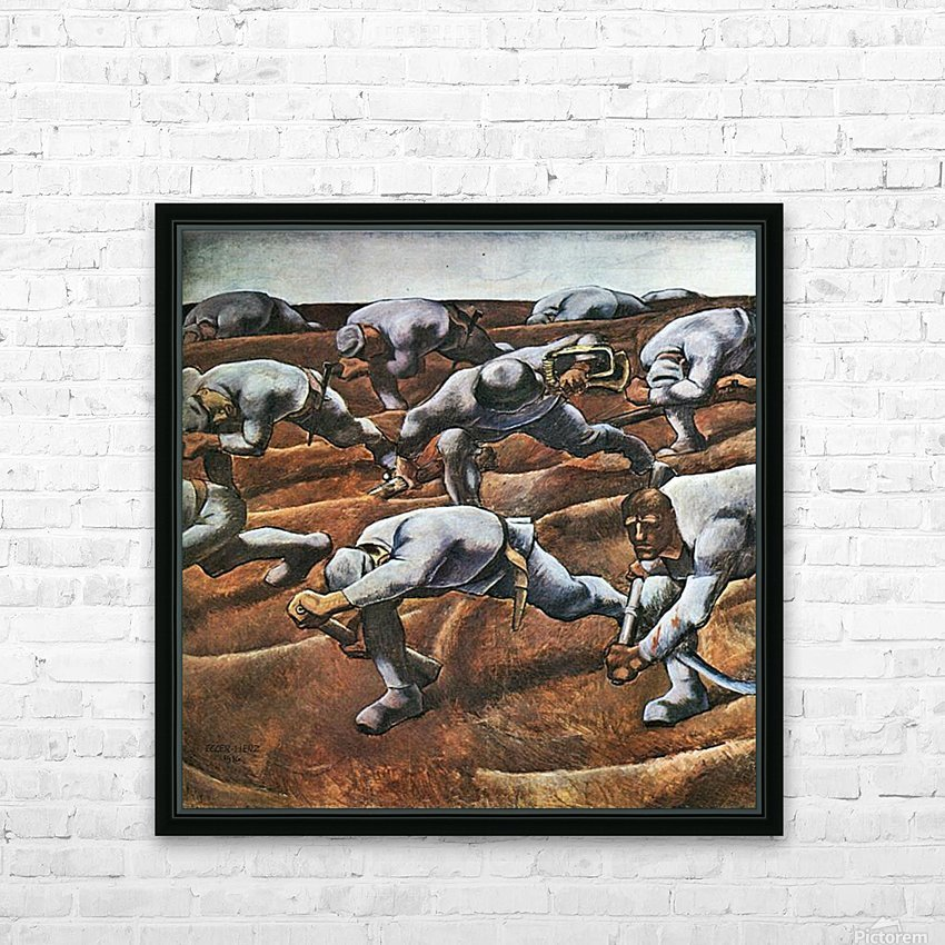 The Nameless 1914 by Albin Egger-Lienz HD Sublimation Metal print with Decorating Float Frame (BOX)