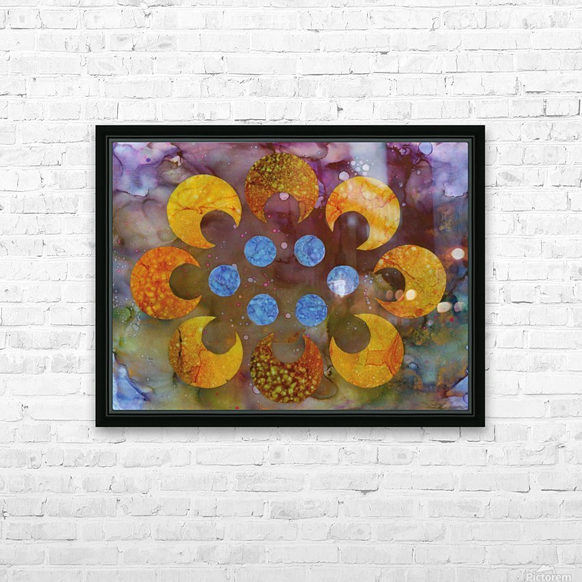 Crescents HD Sublimation Metal print with Decorating Float Frame (BOX)