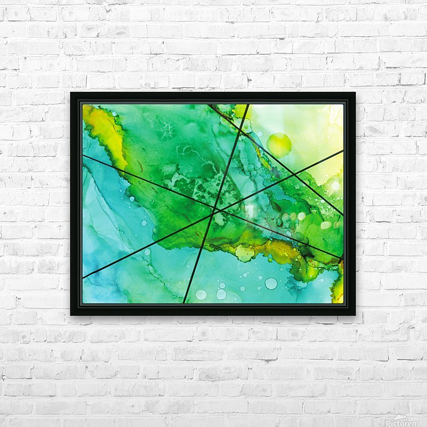 Green under the Lines HD Sublimation Metal print with Decorating Float Frame (BOX)