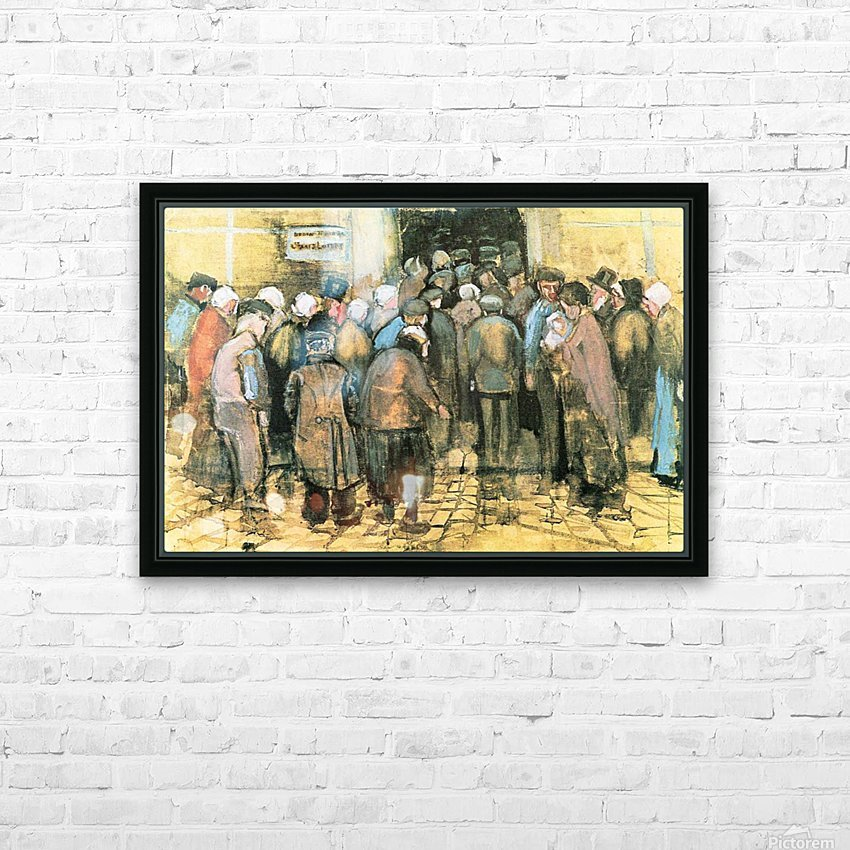 The National Lottery by Van Gogh HD Sublimation Metal print with Decorating Float Frame (BOX)