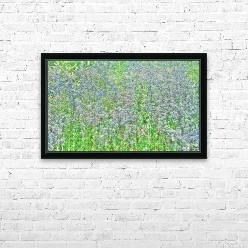 Jardin à la Monet HD Sublimation Metal print with Decorating Float Frame (BOX)
