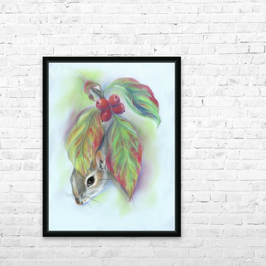 Squirrel in the Autumn Dogwood HD Sublimation Metal print with Decorating Float Frame (BOX)