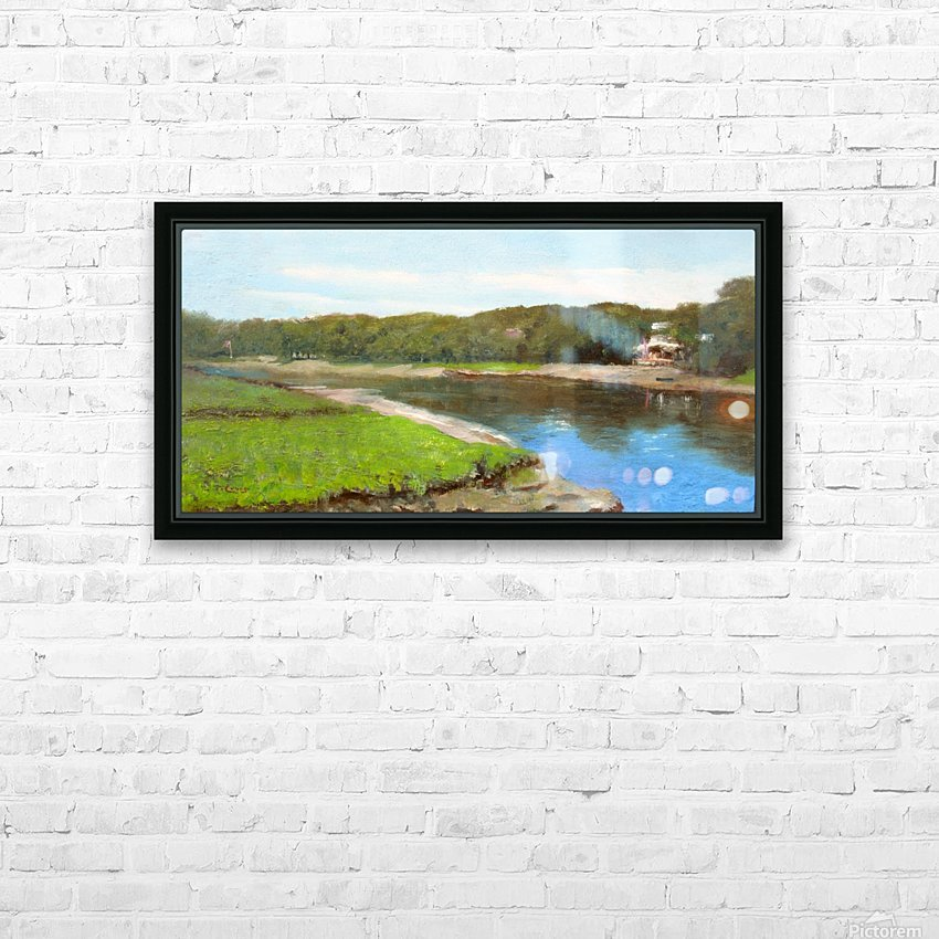 Swimming Hole HD Sublimation Metal print with Decorating Float Frame (BOX)
