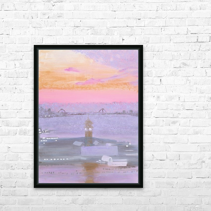 Sunrise Over New York and New Jersey HD Sublimation Metal print with Decorating Float Frame (BOX)