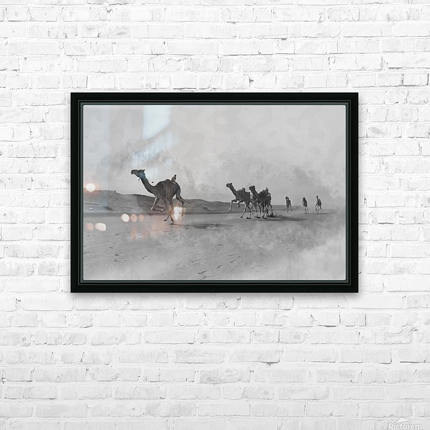 oman and traditional  HD Sublimation Metal print with Decorating Float Frame (BOX)