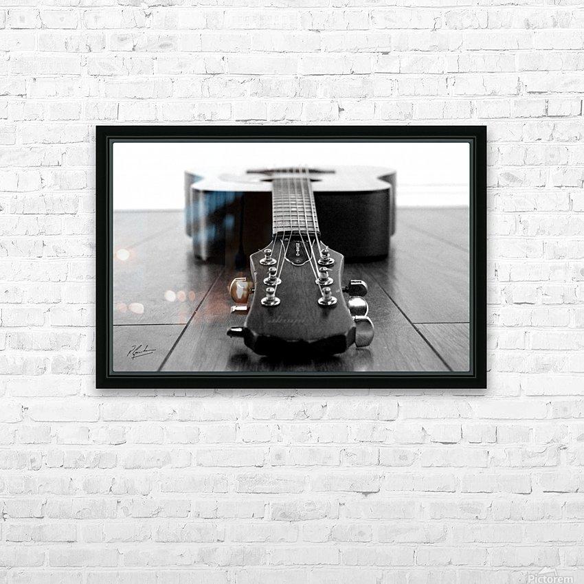 Gibson Guitar HD sublimation métal imprimé avec décoration flotteur cadre (boîte)