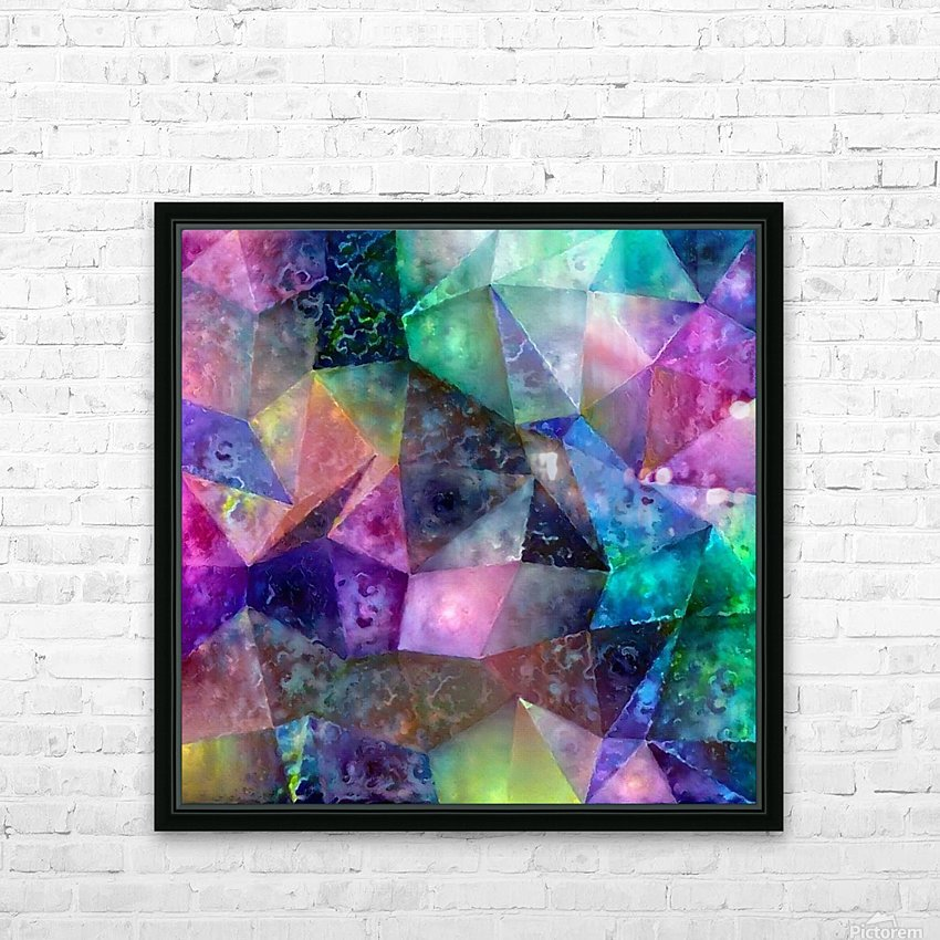 Vivid Abstract Geometric Figures HD Sublimation Metal print with Decorating Float Frame (BOX)