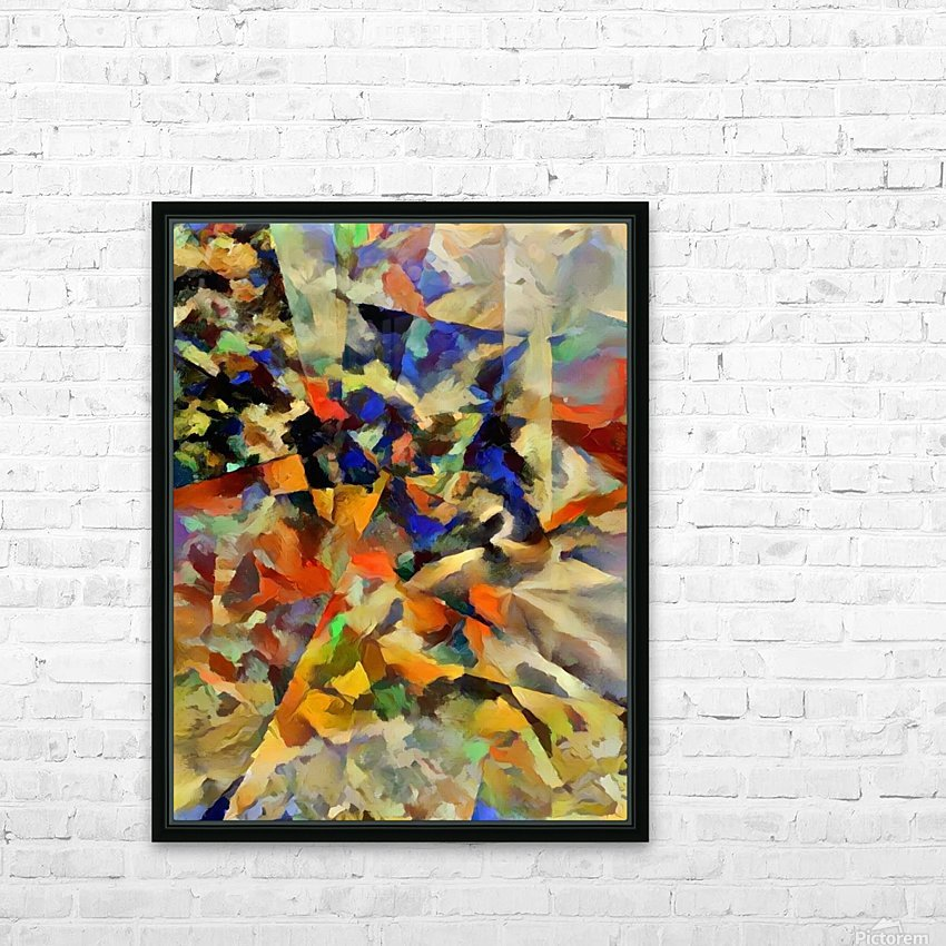 Abstract Painting with Geometric Figures HD Sublimation Metal print with Decorating Float Frame (BOX)