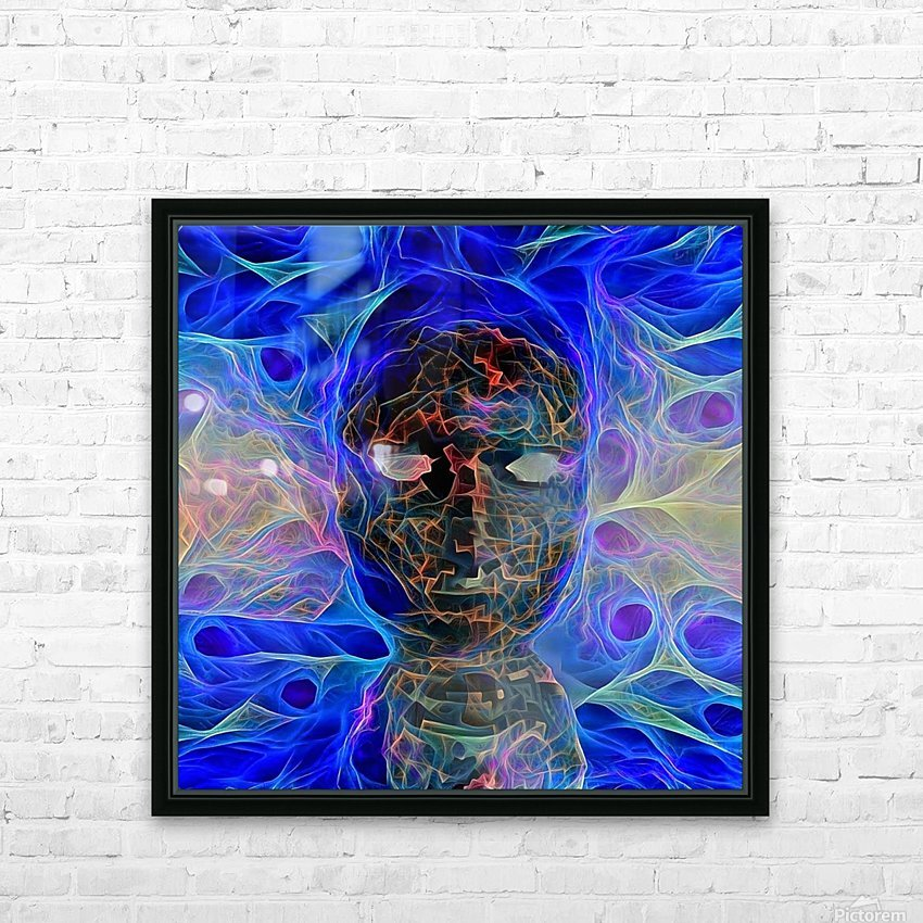 The Mask HD Sublimation Metal print with Decorating Float Frame (BOX)