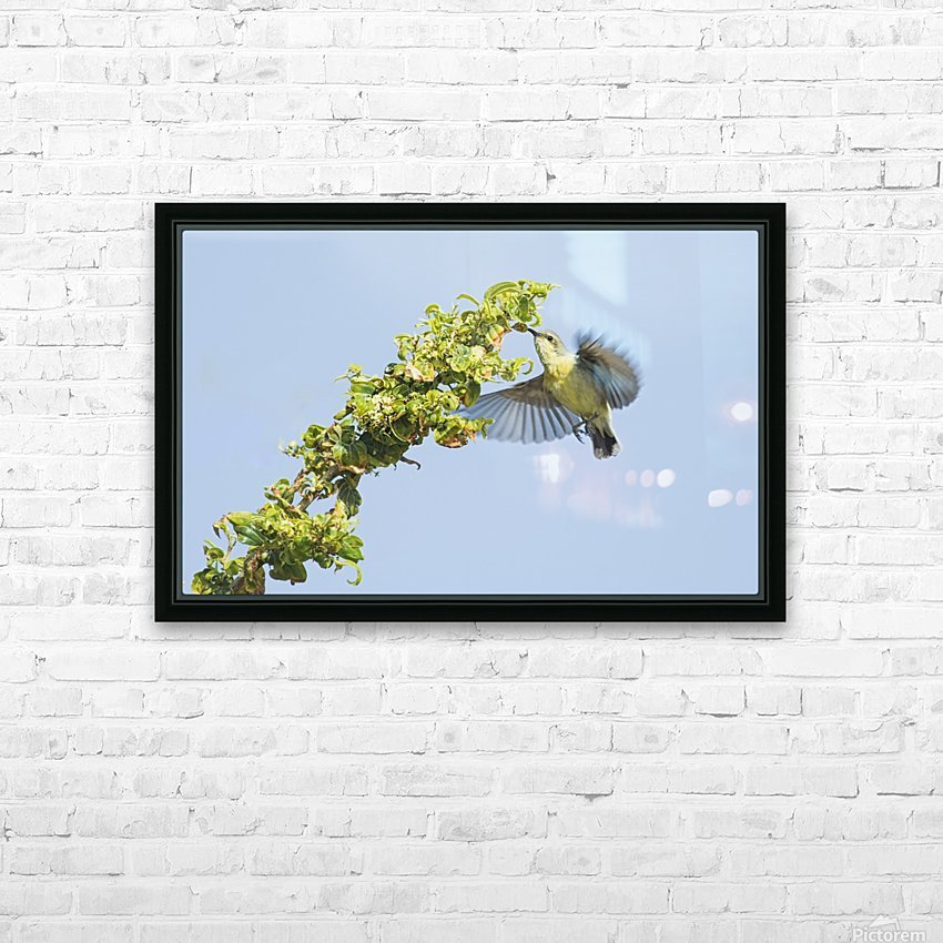 Flight moment HD Sublimation Metal print with Decorating Float Frame (BOX)