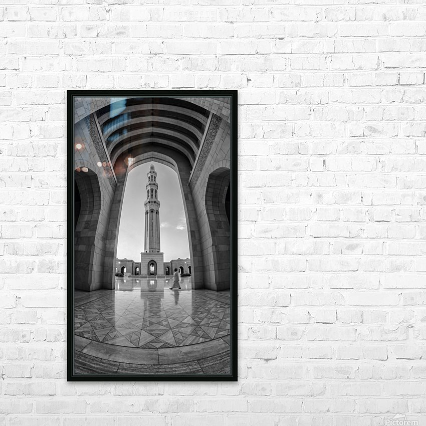 sultan qabos mousqe HD Sublimation Metal print with Decorating Float Frame (BOX)