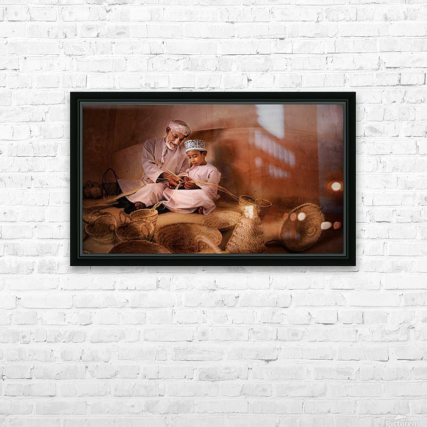 learning the boy HD Sublimation Metal print with Decorating Float Frame (BOX)