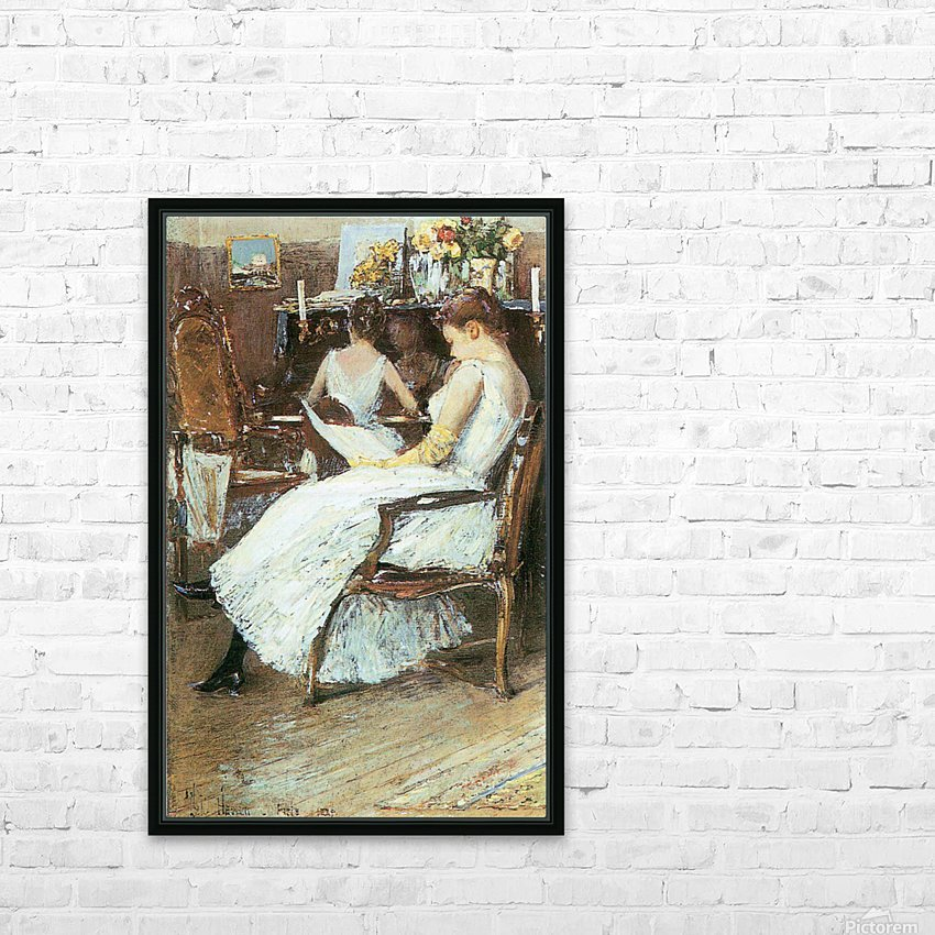Mrs. Hassam and her sister by Hassam HD Sublimation Metal print with Decorating Float Frame (BOX)