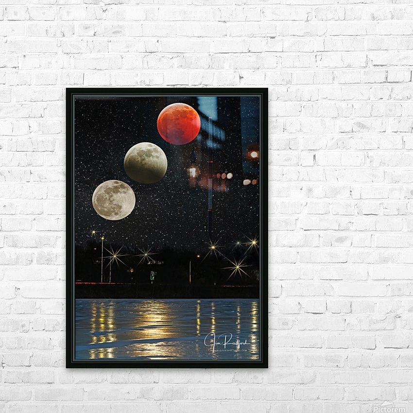 Moon Eclipse  HD Sublimation Metal print with Decorating Float Frame (BOX)