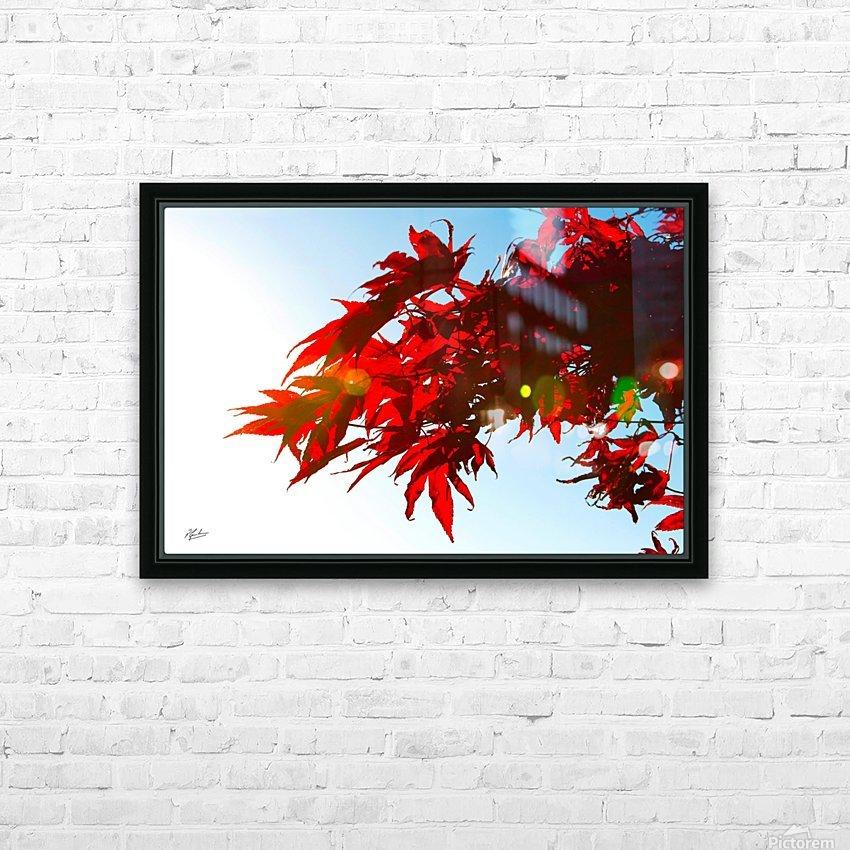 Chinese Maple HD sublimation métal imprimé avec décoration flotteur cadre (boîte)