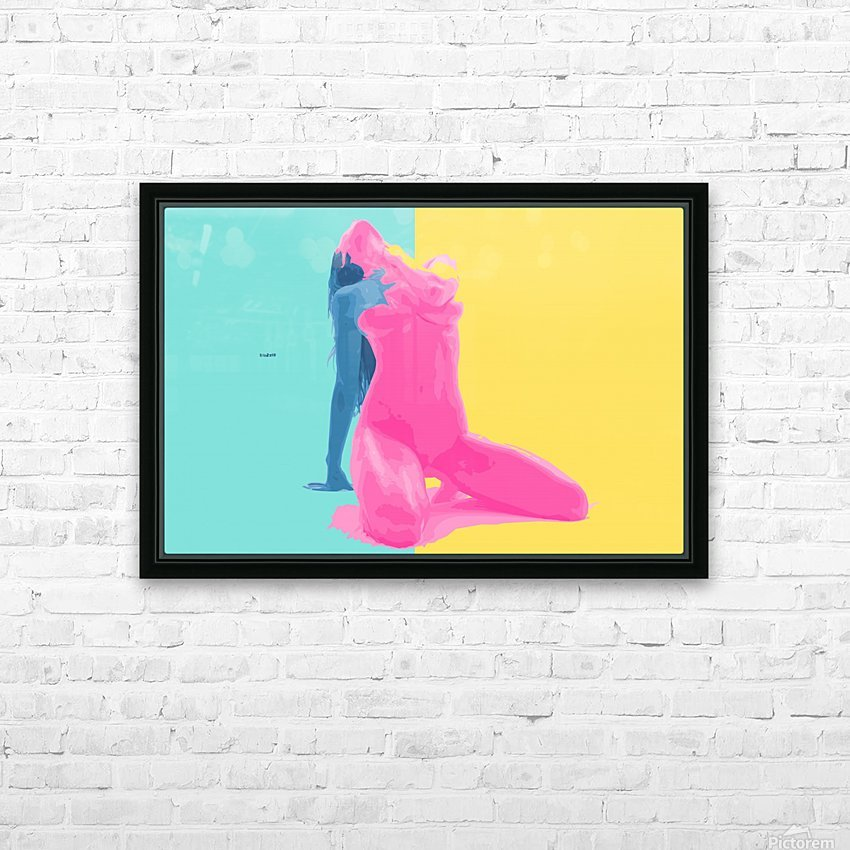 Pink Desert Blue Girl HD Sublimation Metal print with Decorating Float Frame (BOX)