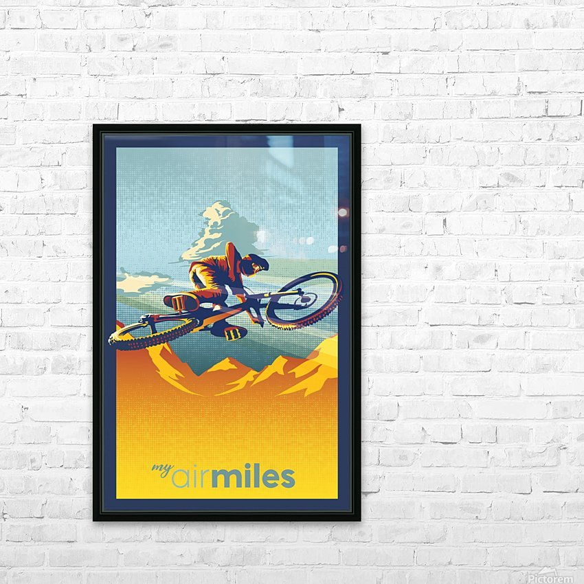 my air miles HD Sublimation Metal print with Decorating Float Frame (BOX)