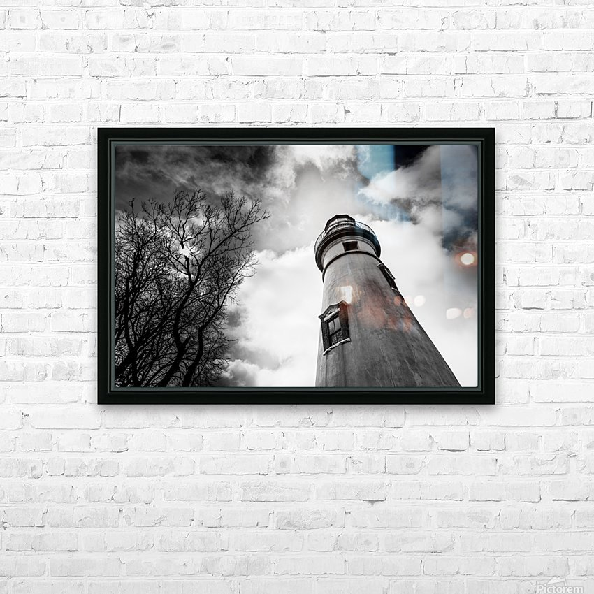 Marblehead Lighthouse 2 HD Sublimation Metal print with Decorating Float Frame (BOX)