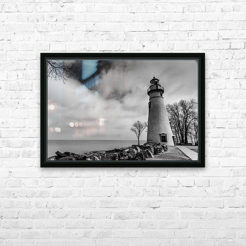 Marblehead Lighthouse 1 HD Sublimation Metal print with Decorating Float Frame (BOX)