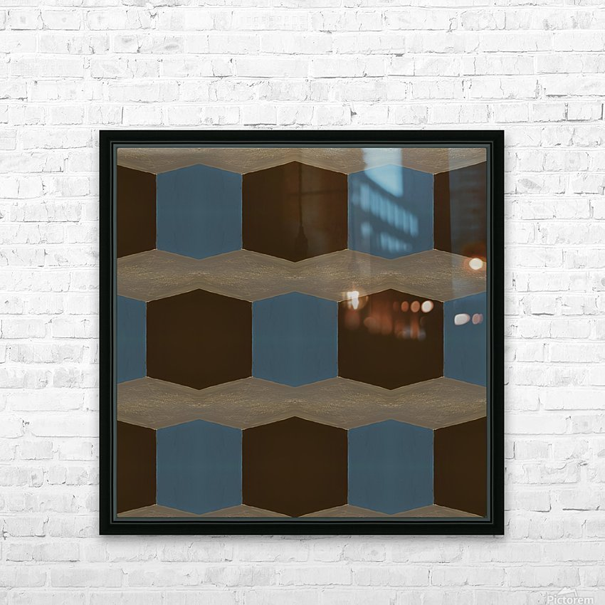 Cubes HD Sublimation Metal print with Decorating Float Frame (BOX)