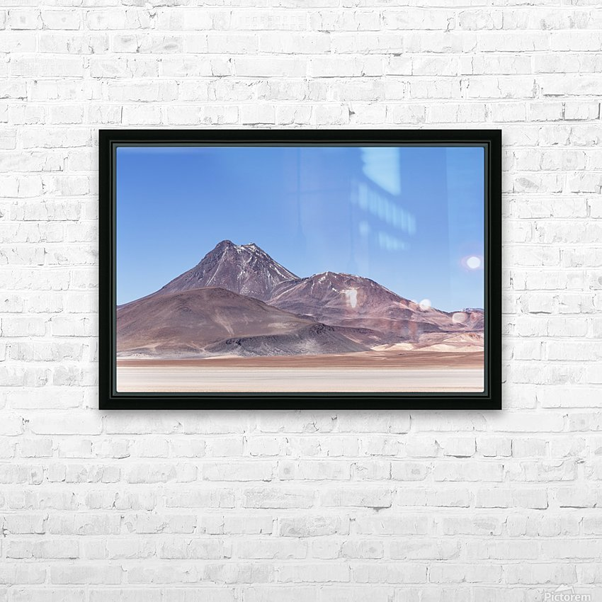 Atacama Volcano HD Sublimation Metal print with Decorating Float Frame (BOX)