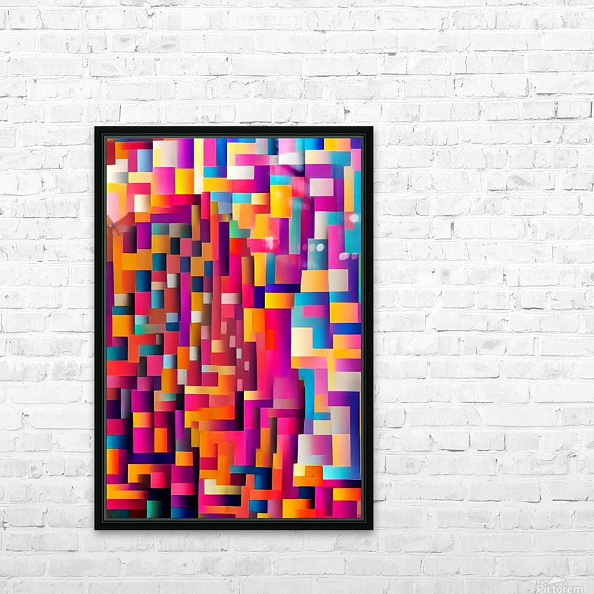 Geometric Abstract Painting HD Sublimation Metal print with Decorating Float Frame (BOX)