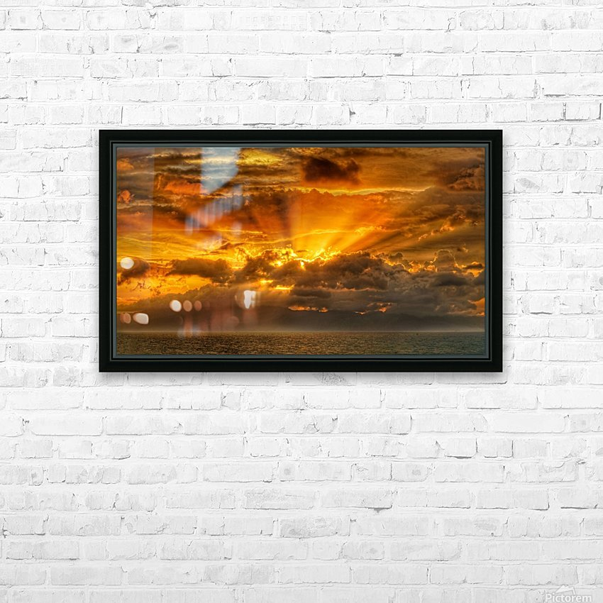 Polynesian Sunrise HD Sublimation Metal print with Decorating Float Frame (BOX)