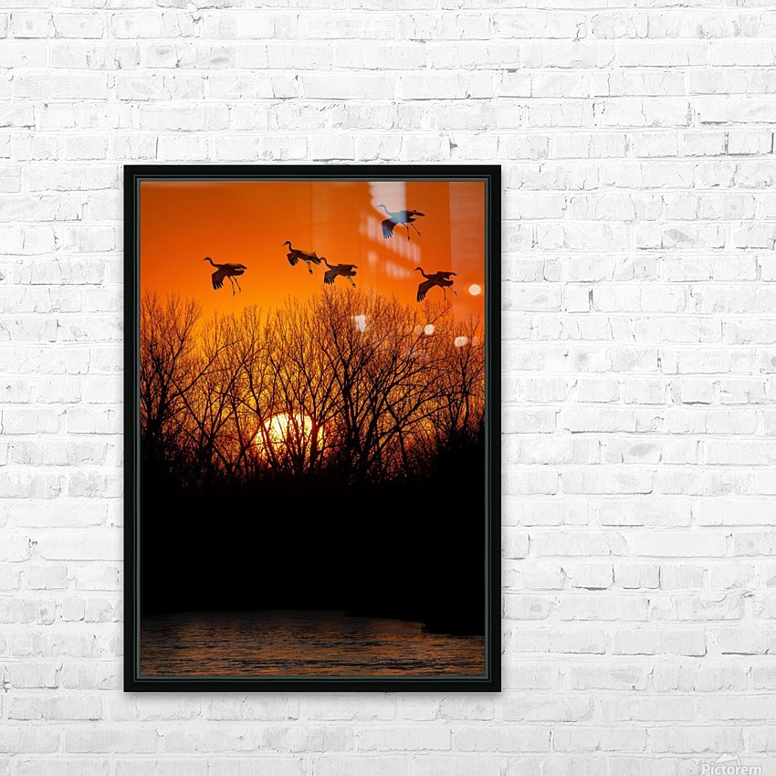 Dawn patrol over the Platte HD Sublimation Metal print with Decorating Float Frame (BOX)