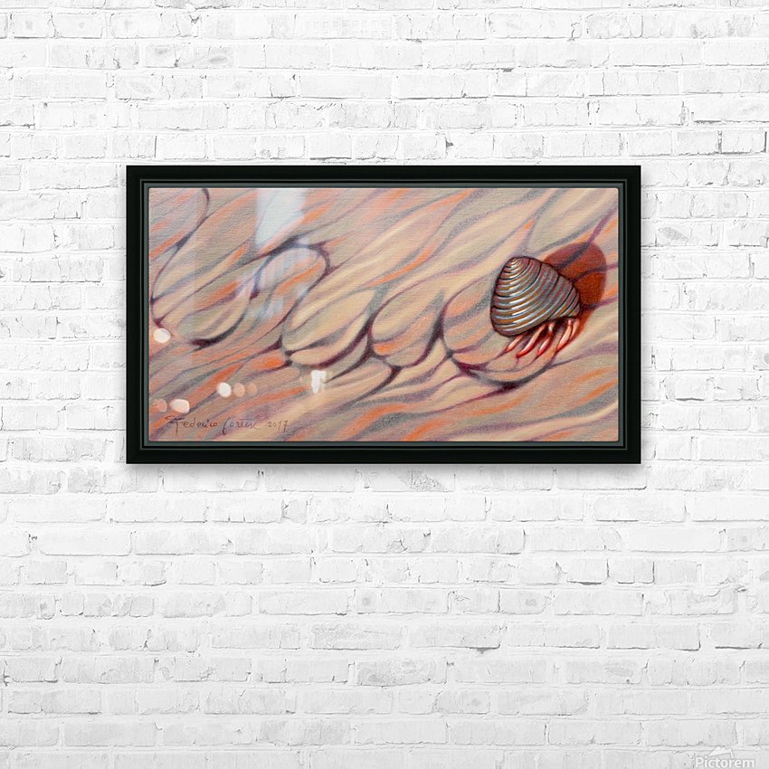 hermit crab on his way back home HD Sublimation Metal print with Decorating Float Frame (BOX)