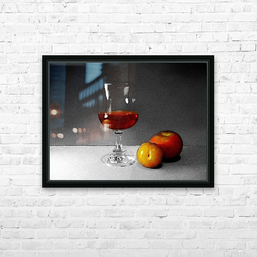 Wine and Fruits HD Sublimation Metal print with Decorating Float Frame (BOX)
