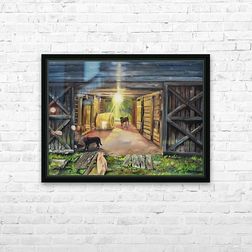 After Hours in Pas Barn LS HD Sublimation Metal print with Decorating Float Frame (BOX)