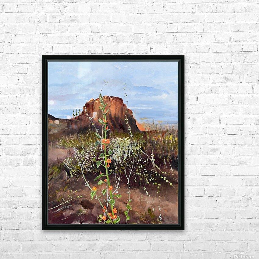 Arizona Desert Flowers HD Sublimation Metal print with Decorating Float Frame (BOX)
