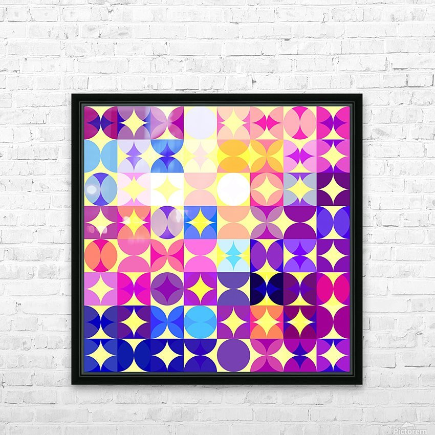 Geometric XXXVI HD Sublimation Metal print with Decorating Float Frame (BOX)