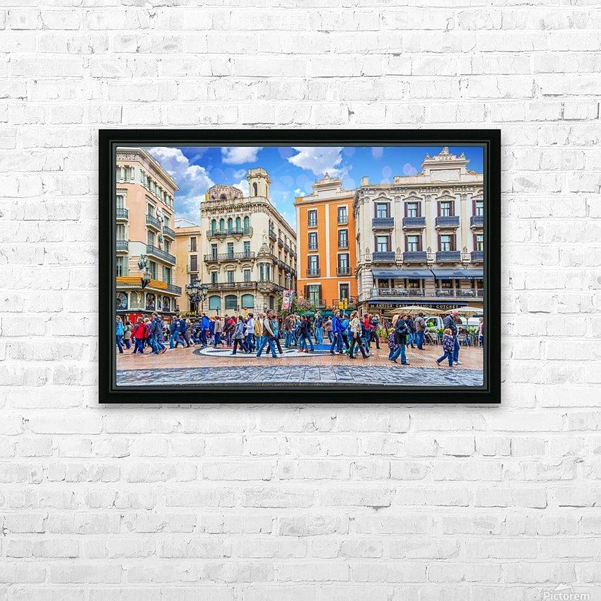 Plaza de la Boqueria Edit HD Sublimation Metal print with Decorating Float Frame (BOX)