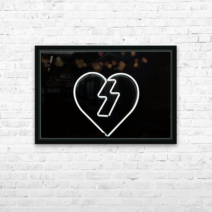 Flash Love HD Sublimation Metal print with Decorating Float Frame (BOX)