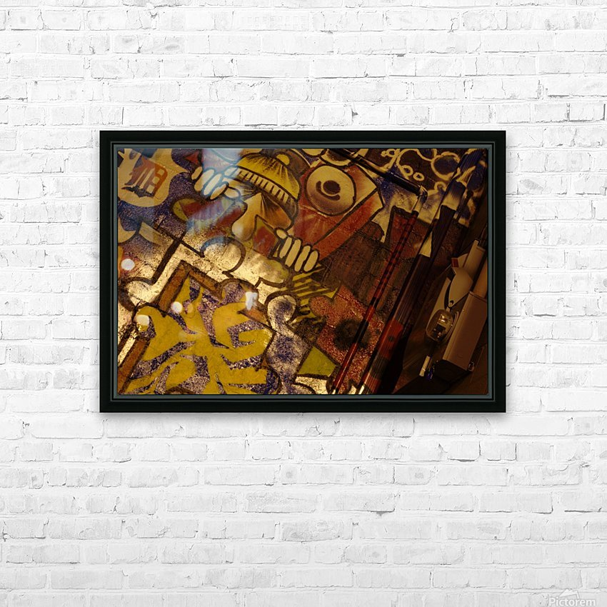 Local Graffiti HD Sublimation Metal print with Decorating Float Frame (BOX)
