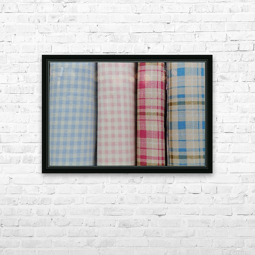 Plaid HD Sublimation Metal print with Decorating Float Frame (BOX)