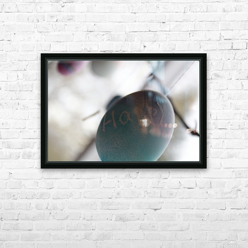 Happy 2 HD Sublimation Metal print with Decorating Float Frame (BOX)