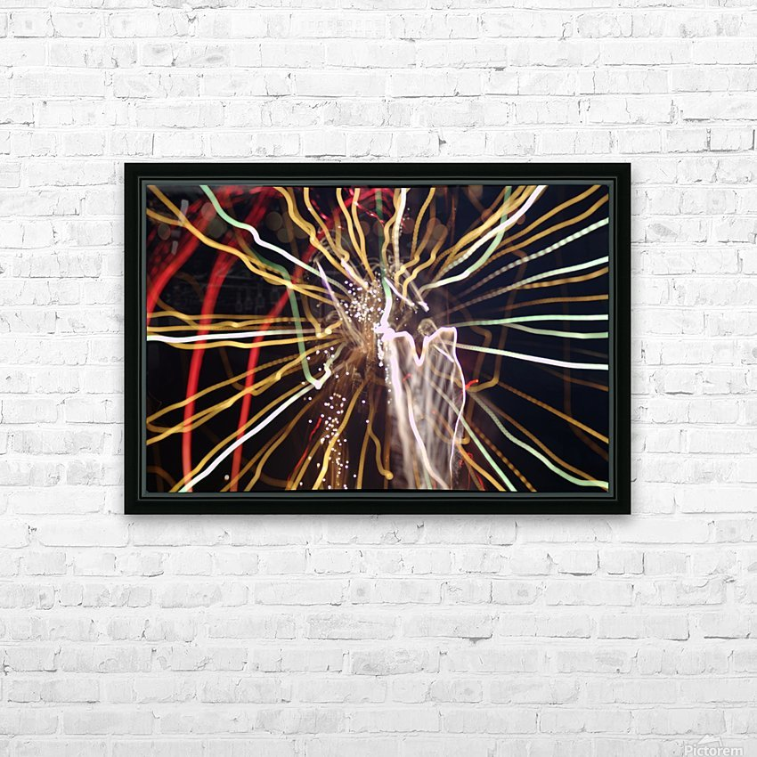 Streamers HD Sublimation Metal print with Decorating Float Frame (BOX)