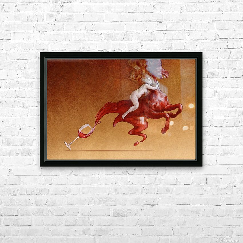 red wine HD Sublimation Metal print with Decorating Float Frame (BOX)