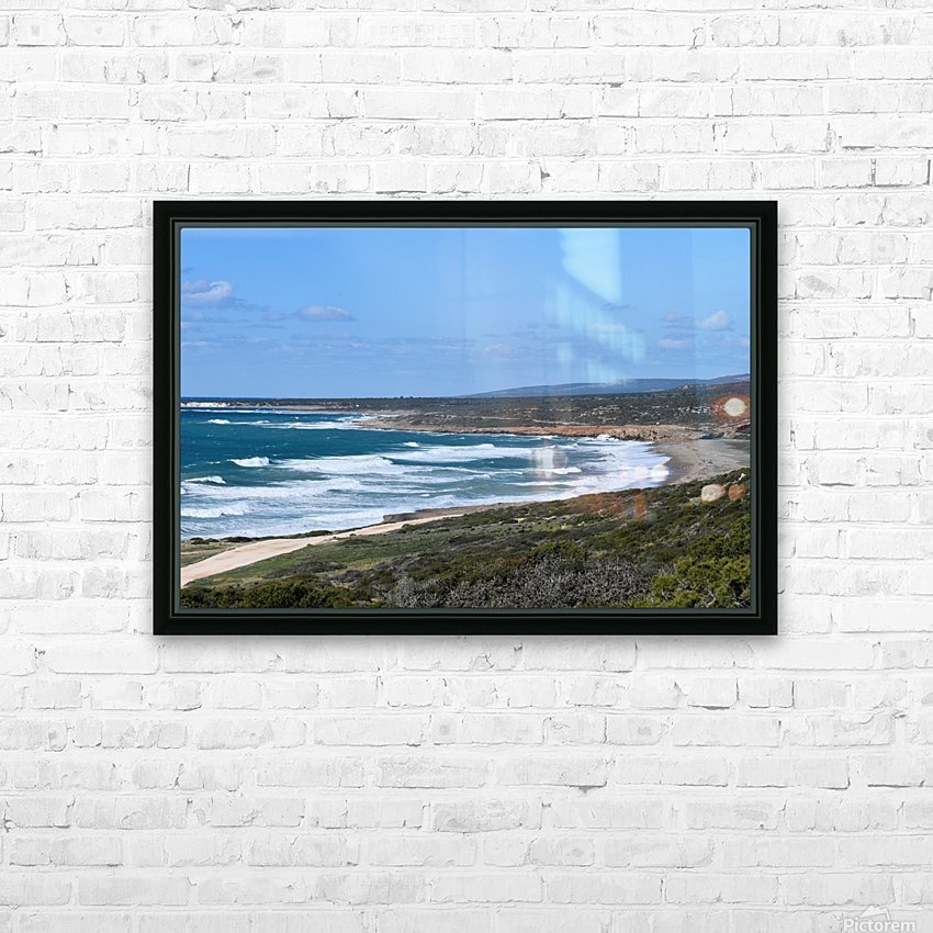 Seashore with waves and blue sky - Cyprus HD Sublimation Metal print with Decorating Float Frame (BOX)