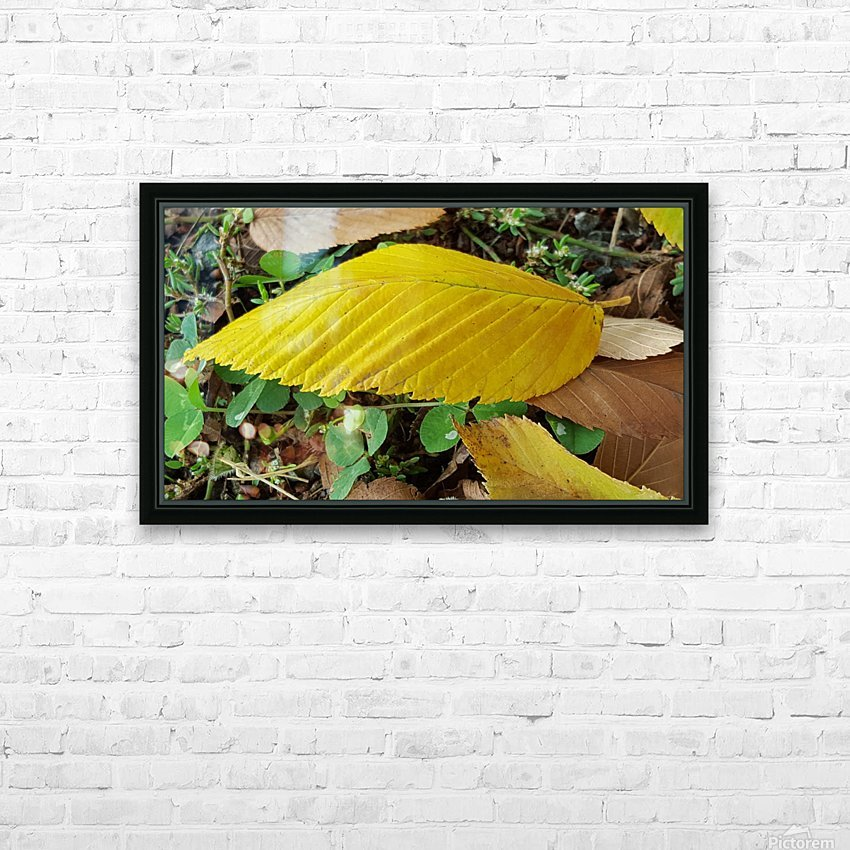 Autumn Leaves HD Sublimation Metal print with Decorating Float Frame (BOX)