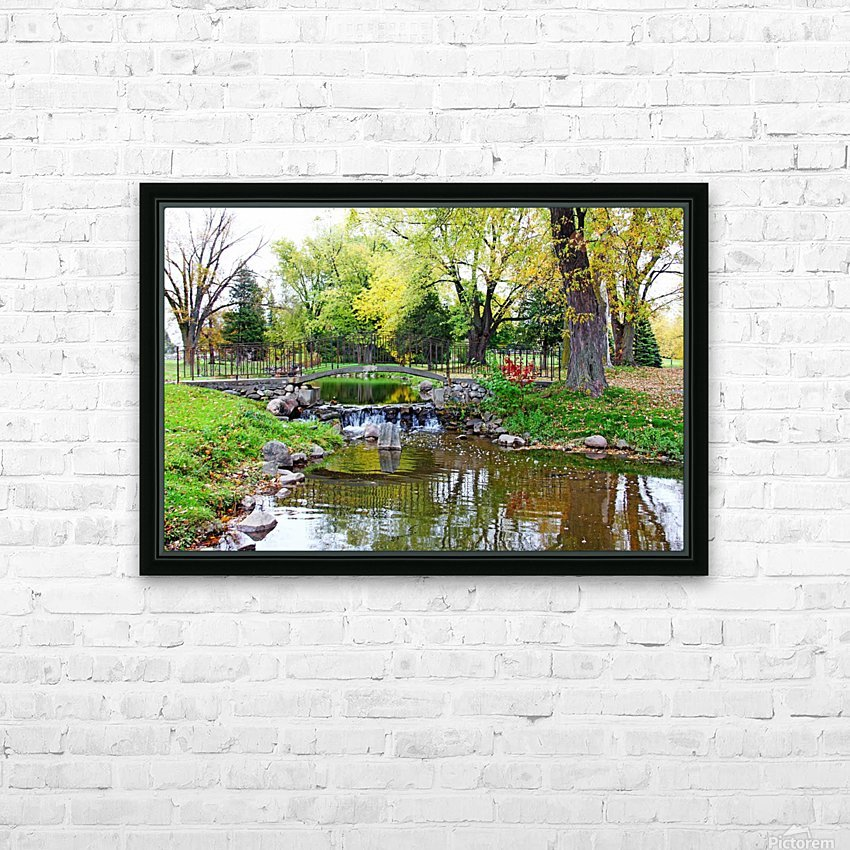 Old Iron And Stone Bridge Over Creek HD Sublimation Metal print with Decorating Float Frame (BOX)