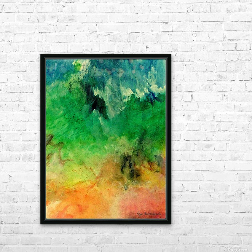 Forest Mountains HD Sublimation Metal print with Decorating Float Frame (BOX)