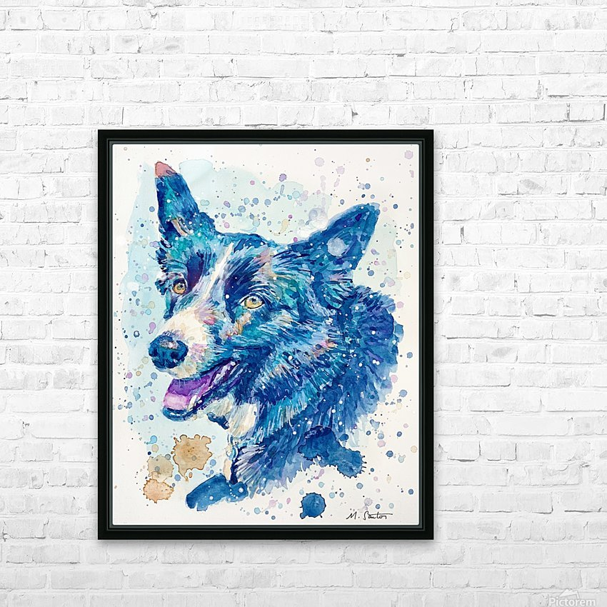 Border Collie Dog - Portrait of Habbey HD Sublimation Metal print with Decorating Float Frame (BOX)