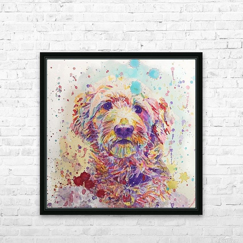 Goldendoodle - Portrait of Link HD Sublimation Metal print with Decorating Float Frame (BOX)