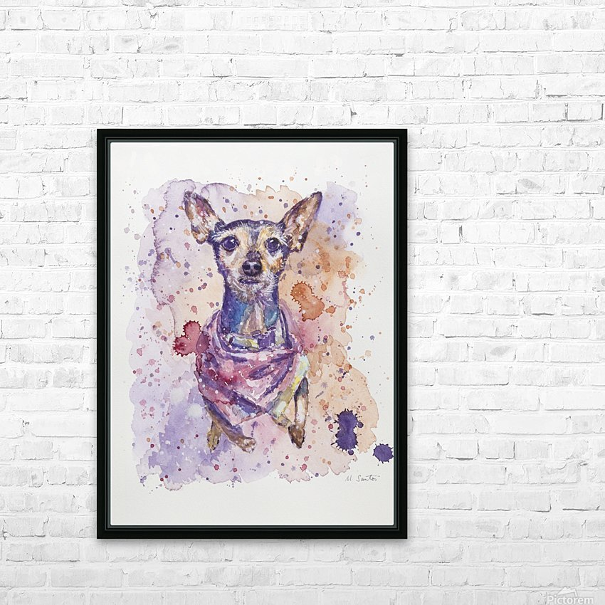 Chihuahua - Portrait of Gigi HD Sublimation Metal print with Decorating Float Frame (BOX)